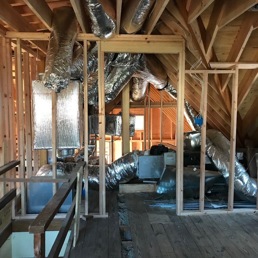 The mechanical space for HVAC