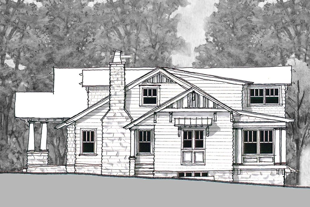 Proposed North Elevation with new mud room entrance