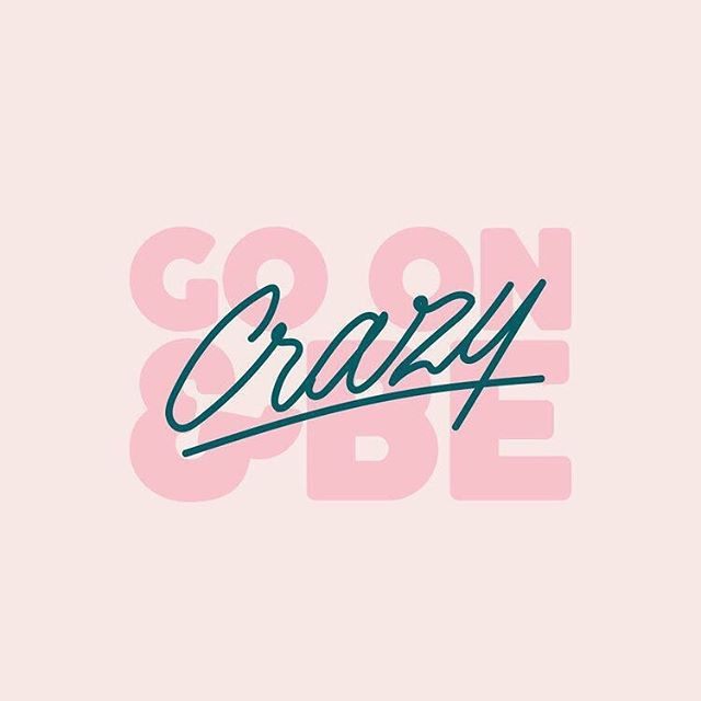 😜⚡️go on + be crazy enough to believe the impossible! 💗to believe your voice, your gifts + your heart are all actually worth sharing with the world. 💪🏾go on + be crazy enough to be YOU!
