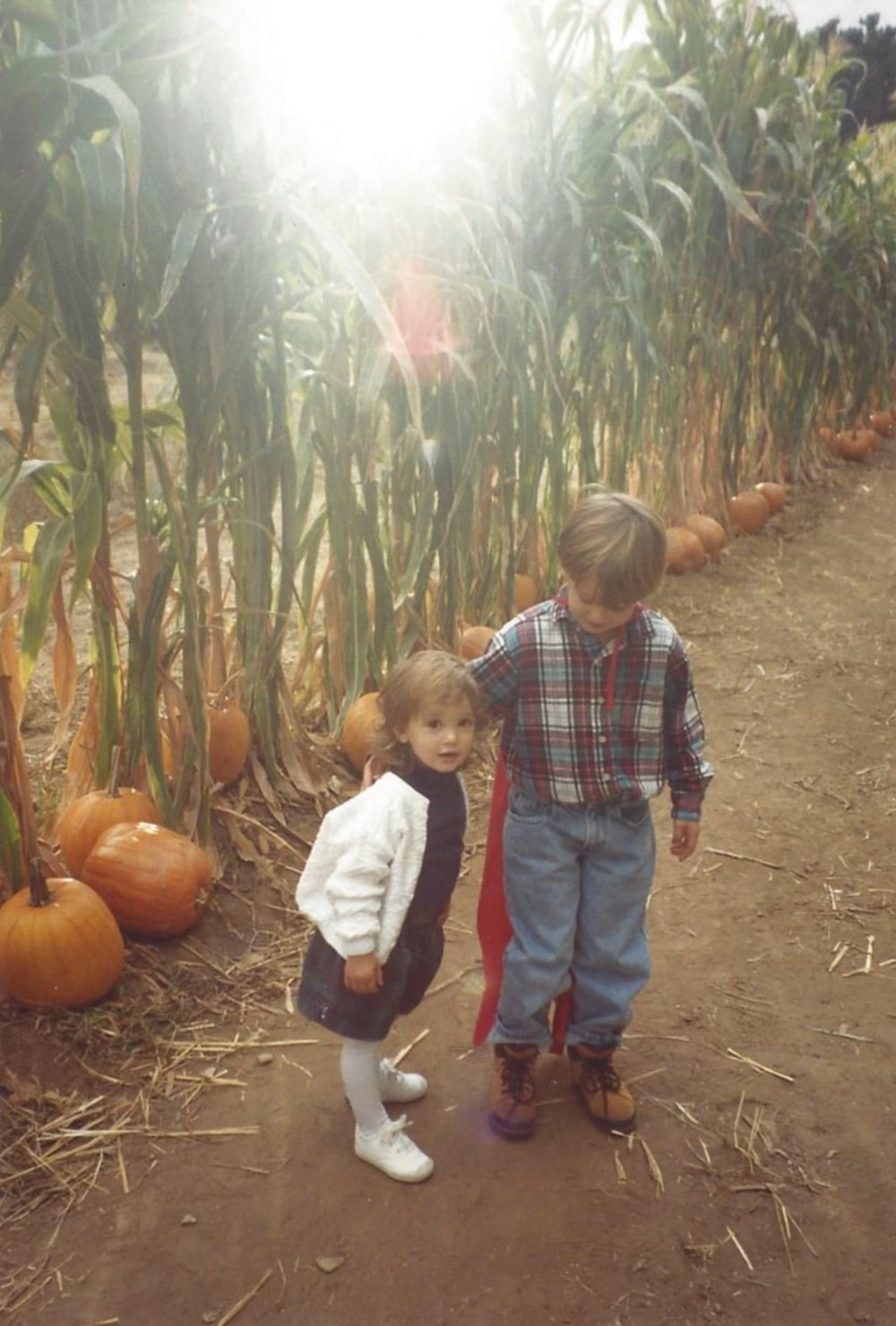 Me and my brother at the pumpkin patch, 1992