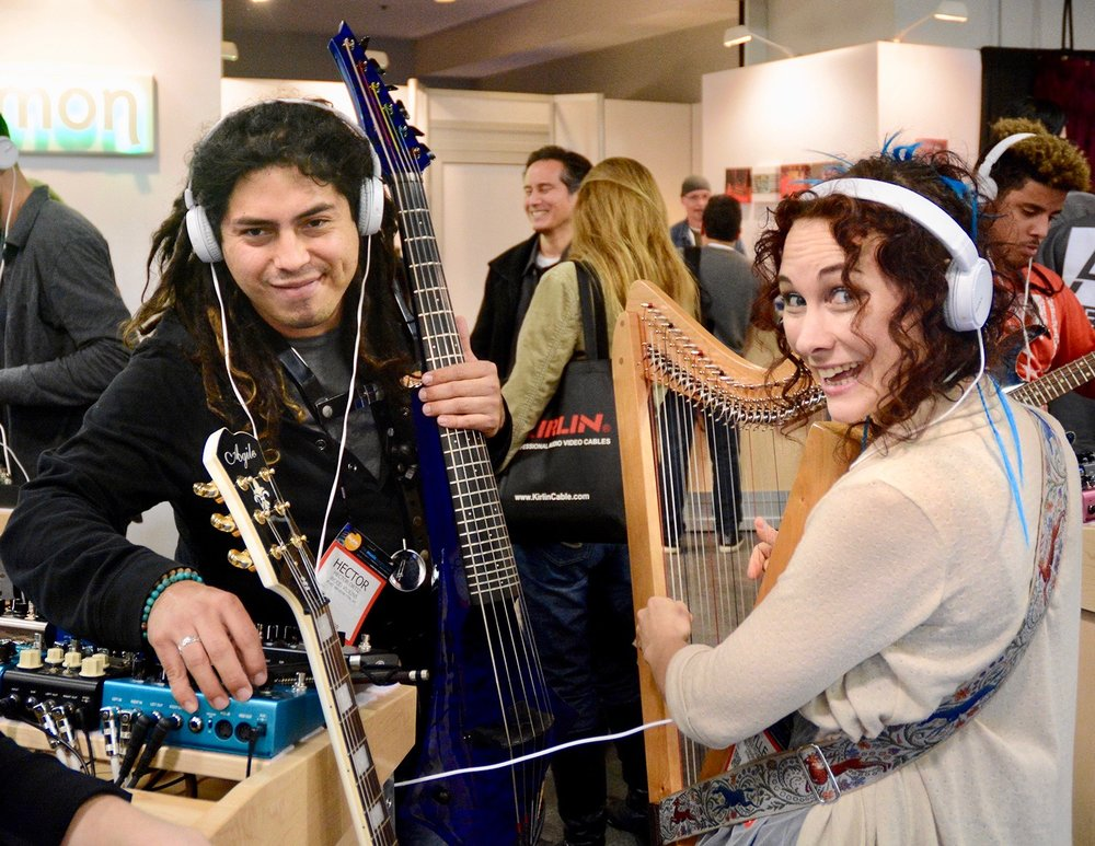 Hector Ortiz & Canadian Camille Fournier at NAMM in California