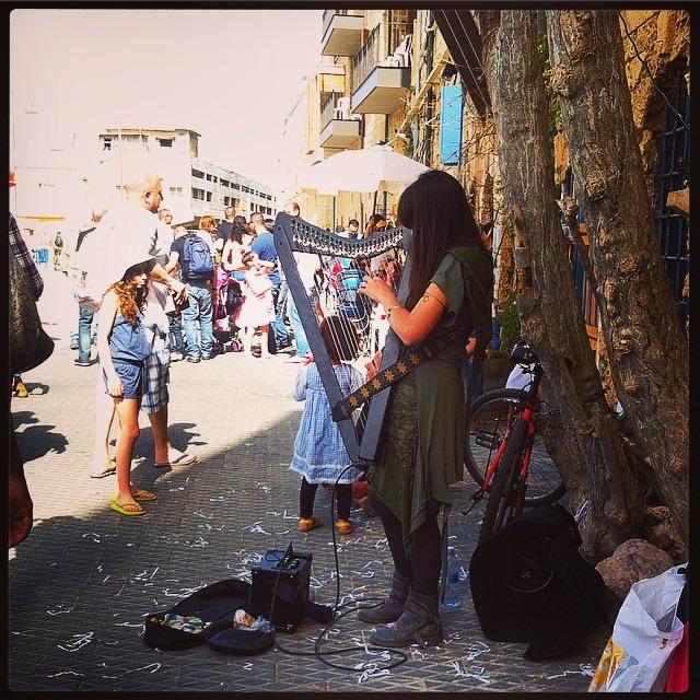 Israeli street busker.