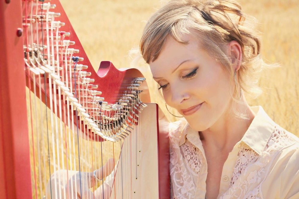The Brilliant!™ Harpsicle® Harp and Rebecca Brown.