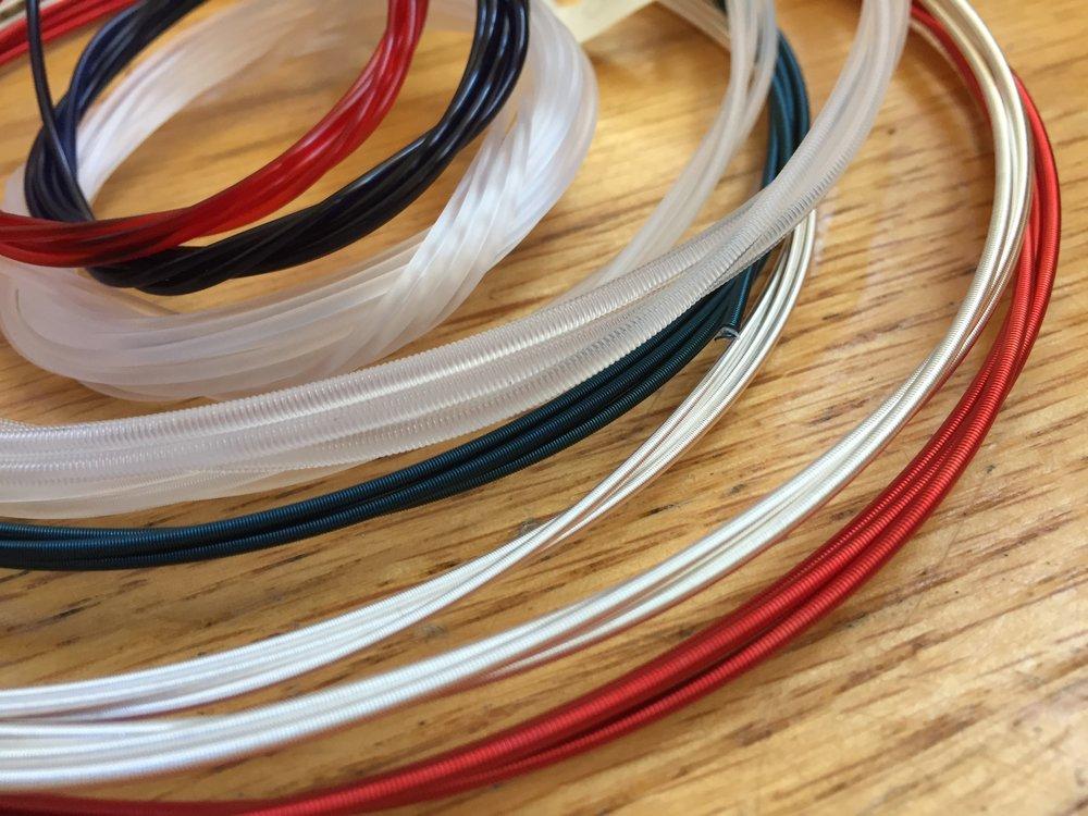 A full string set tailored for each harp model.