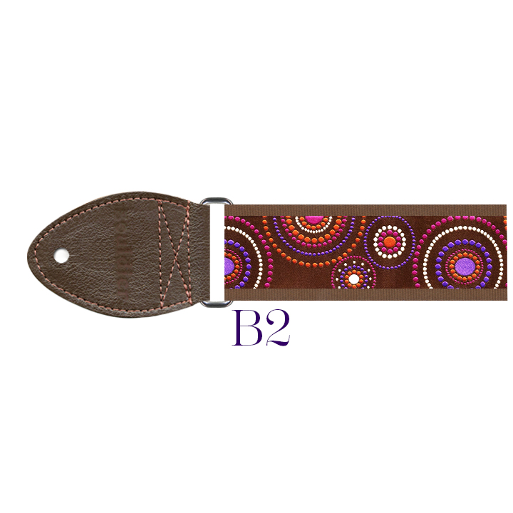 B2 - Crop Circles Harp Strap (brown)  Out of stock