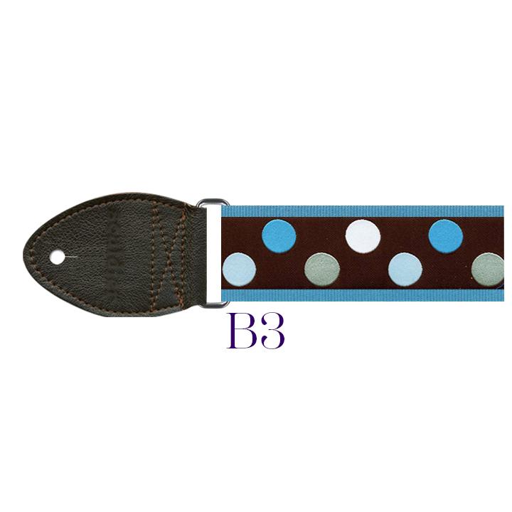 B3 - Polkadot Harp Strap (blue)