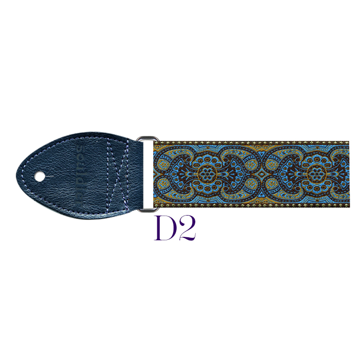 D2 - Arabesque Harp Strap (turquoise)