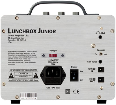 ZT Lunchbox Junior Amp back view