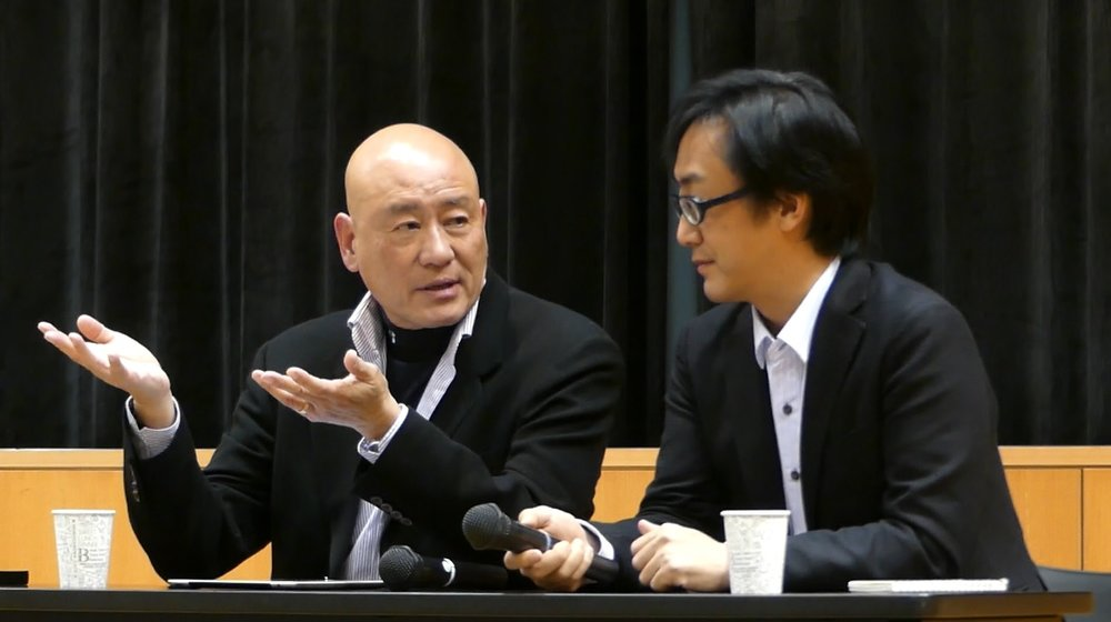 Tony Lo and Nojima Tsuyoshi in conversation at the symposium (photo courtesy of Yasunori Noto)