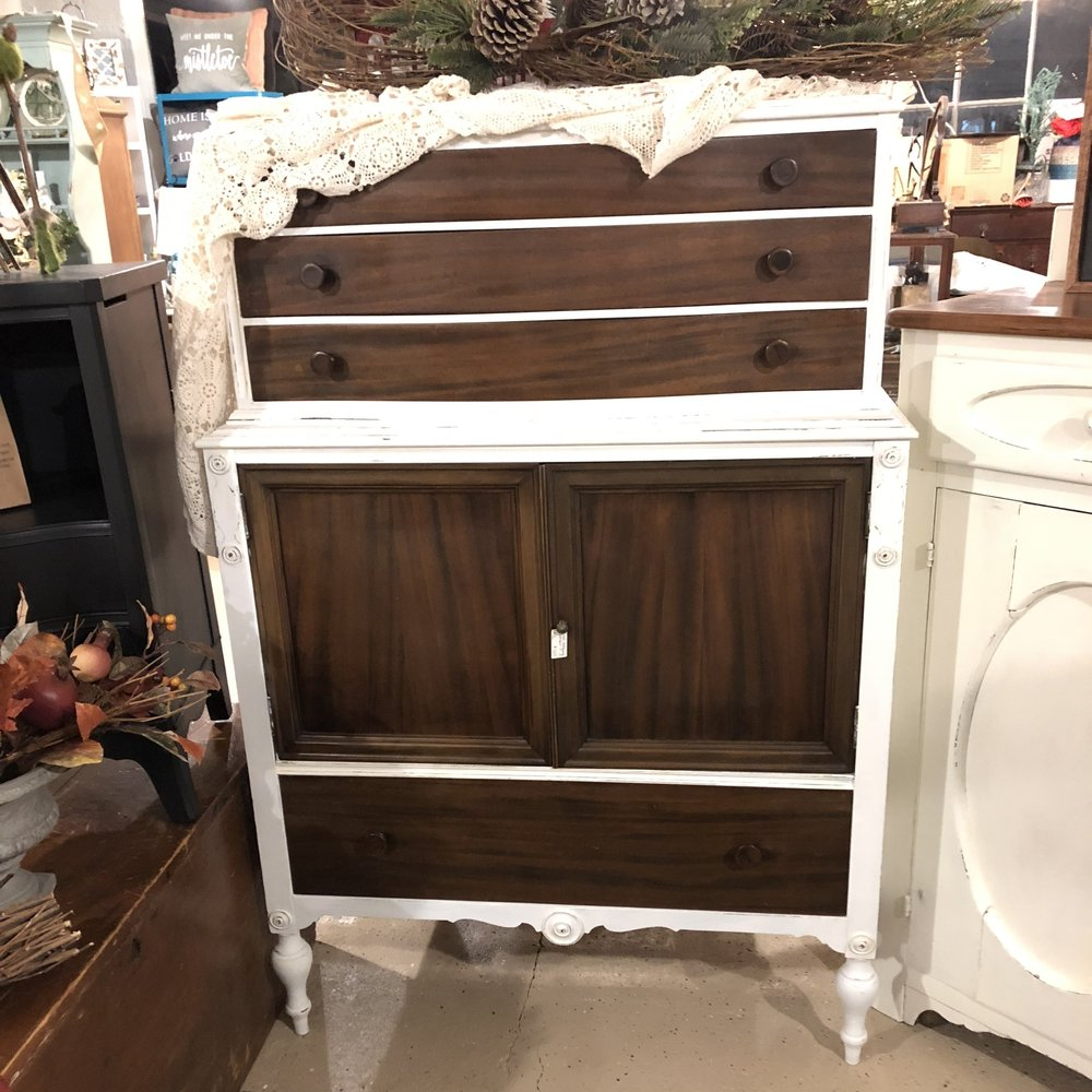Wood & White Dresser - Measures:  $325
