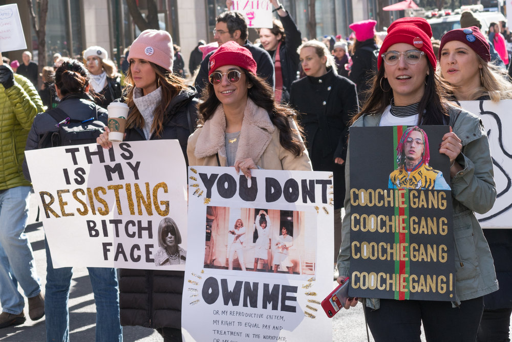 """You Don't Own Me"" from The Women's March, 2018, by Jasper Wright"