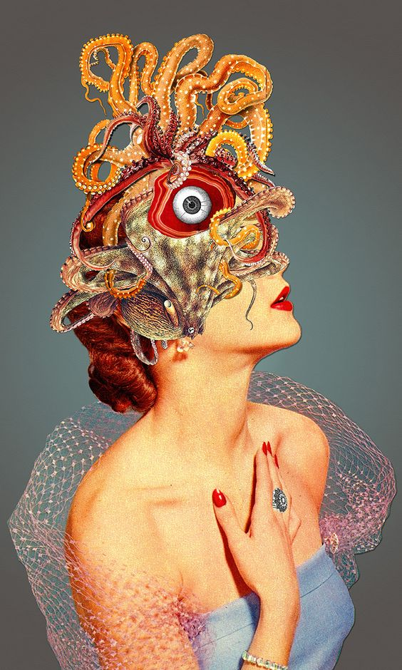 "Eugenia Loli collage ""Migraine"""
