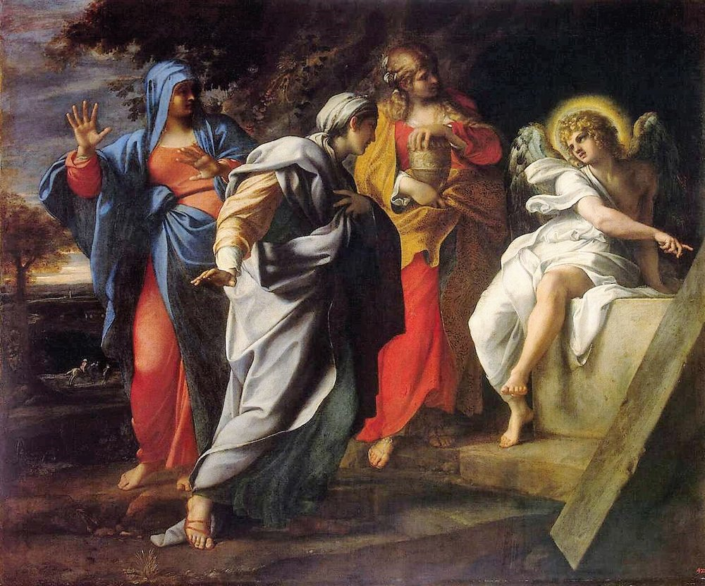 """Holy Women at the Tomb of Christ"" by Annibale Carracci"
