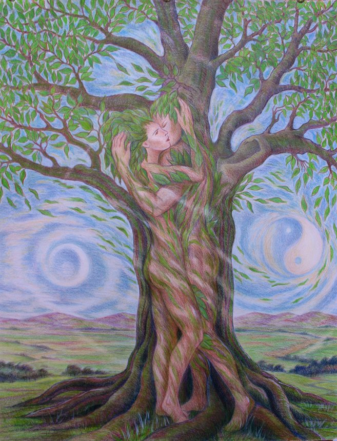 Lovers and the Tree of Life, sourced from Deviant Art