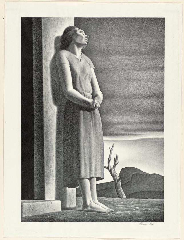 """Weltschmerz"" by Rockwell Kent, 1946"