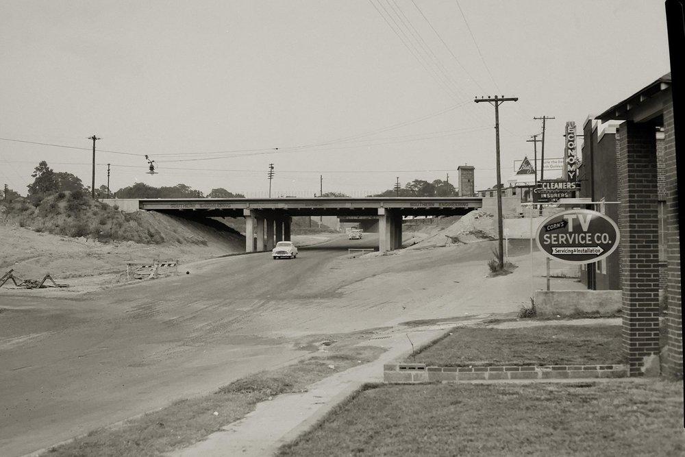 Peace Street looking east, 1954