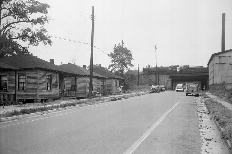 Peace Street looking west, 1945