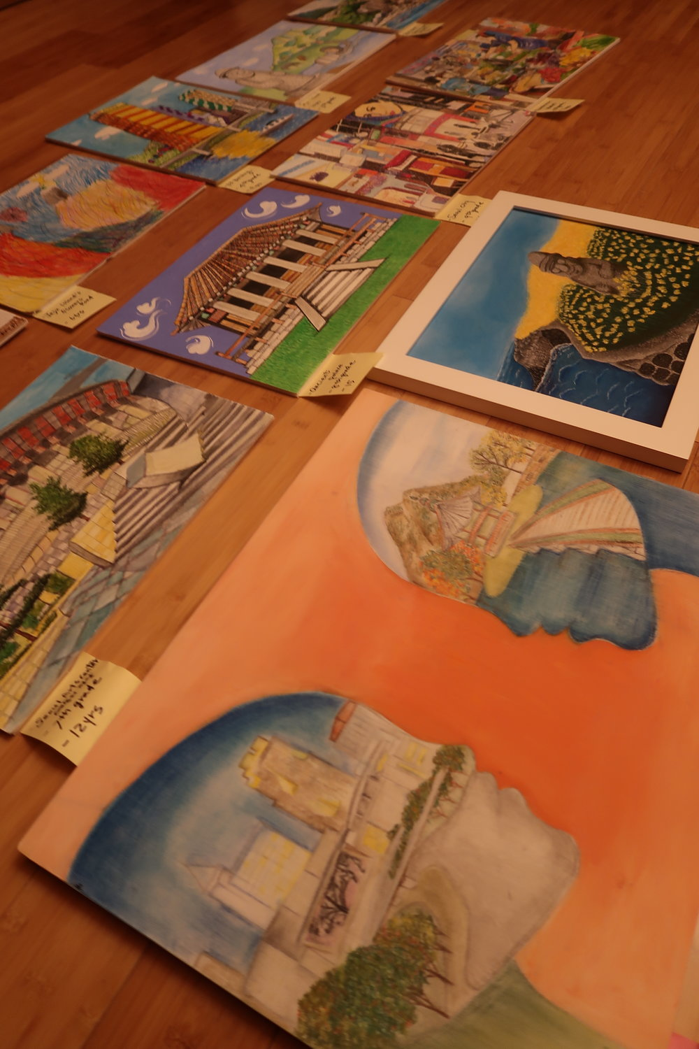Art Contest Submissions on Display -