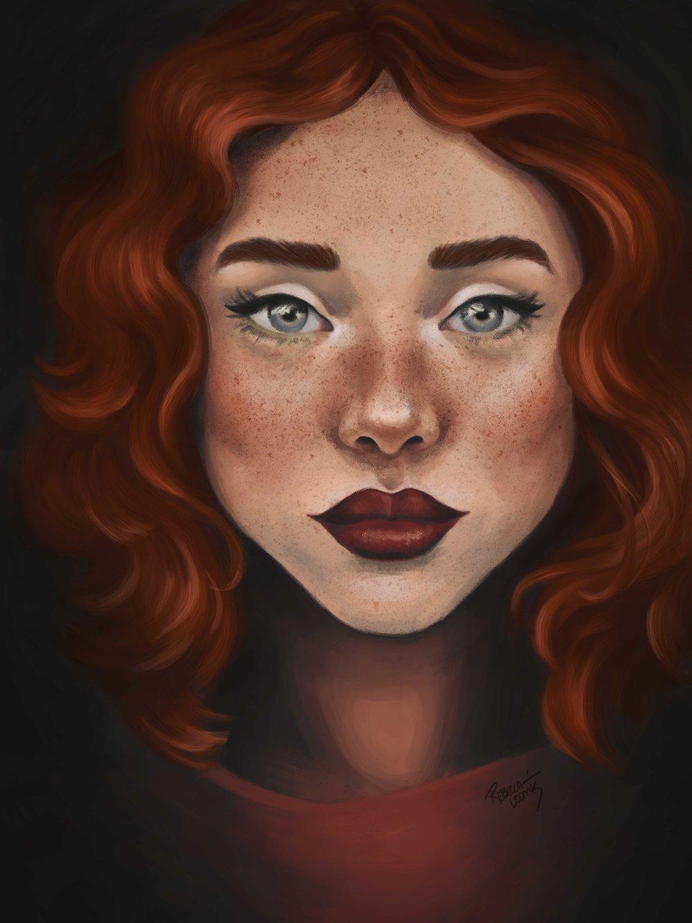 Auburn – Digital Painting by Rebecca Loomis