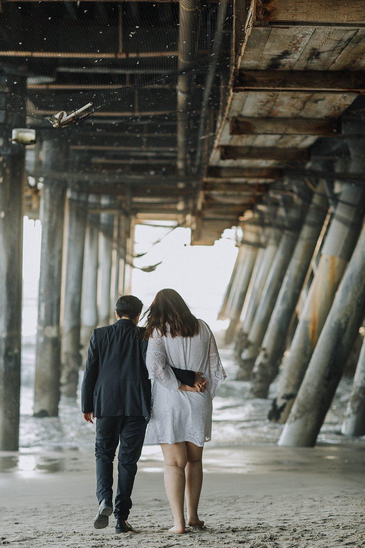 Santa Monica Elopement Photography