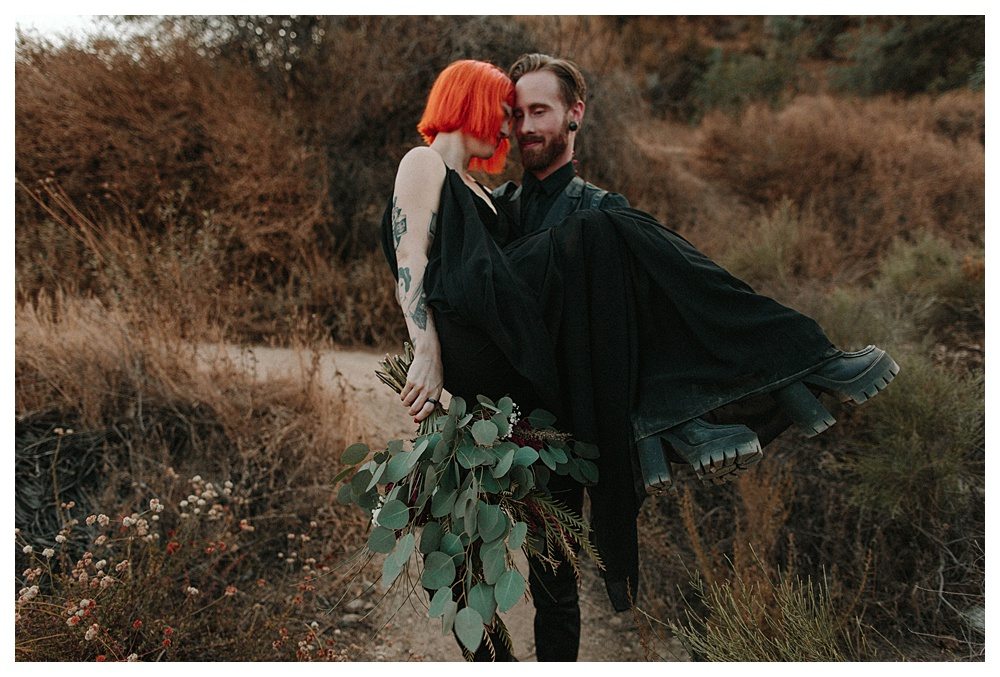 Halloween Inspired Elopement Photography Los Angeles, CA