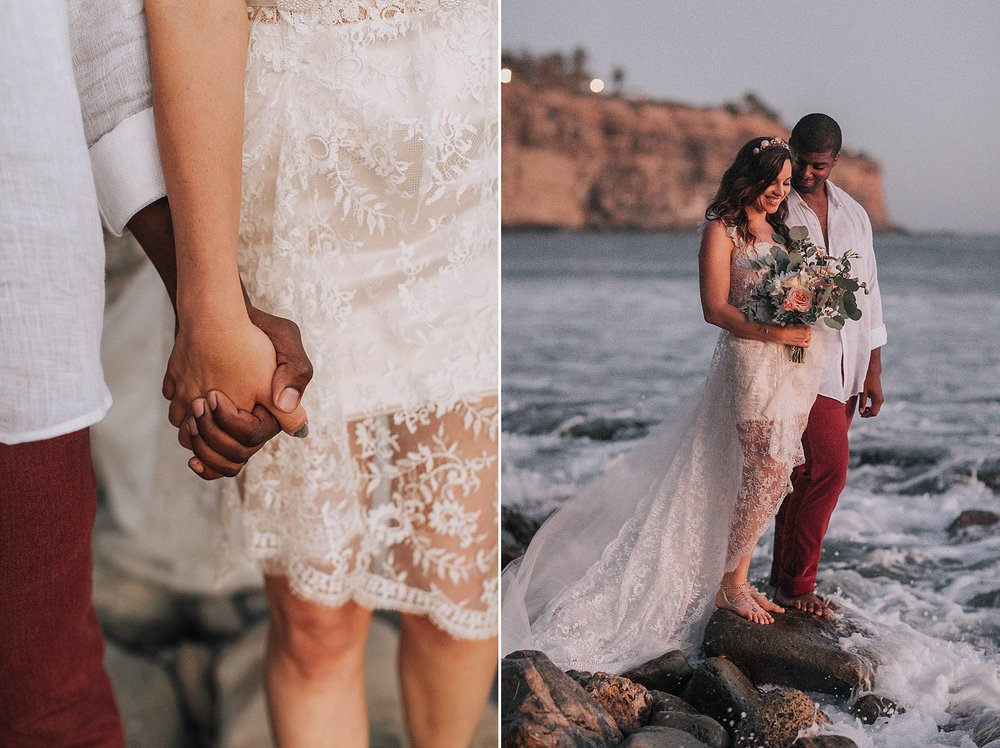 San Pedro Beach Elopement Photography