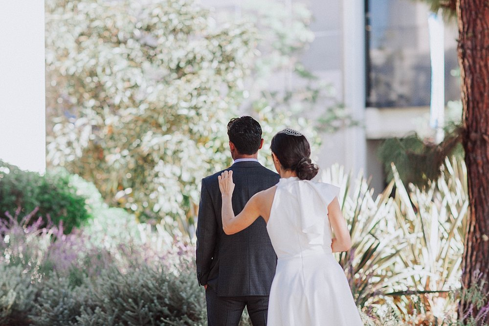 Beverly Hills Courthouse Elopement | First Look