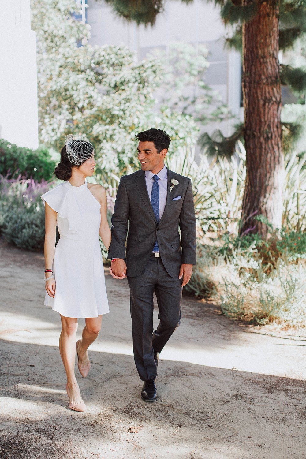 Beverly Hills Courthouse Elopement First Look
