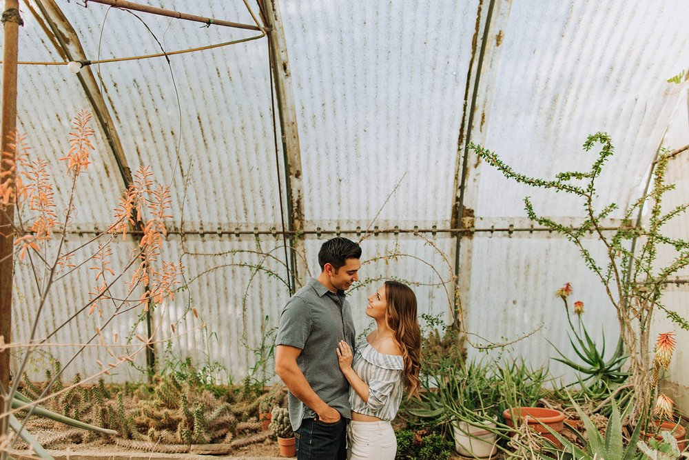 Moorten's Botanical Garden Engagement Photos