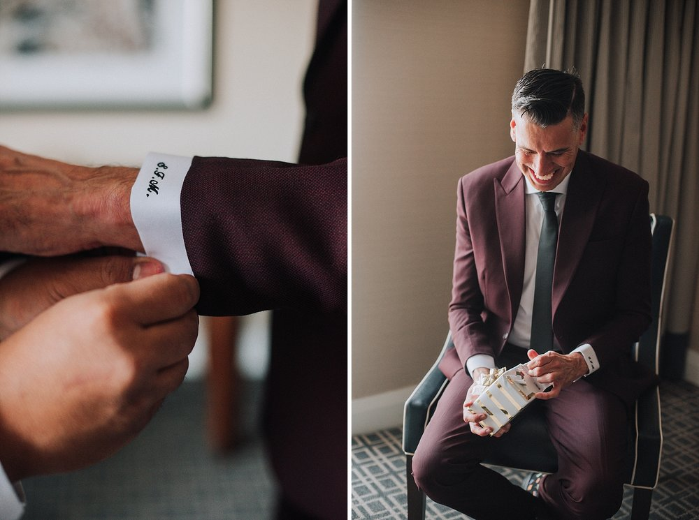 Groom getting ready, Omni Hotel Downtown Los Angeles. Los Angeles Wedding Photographer