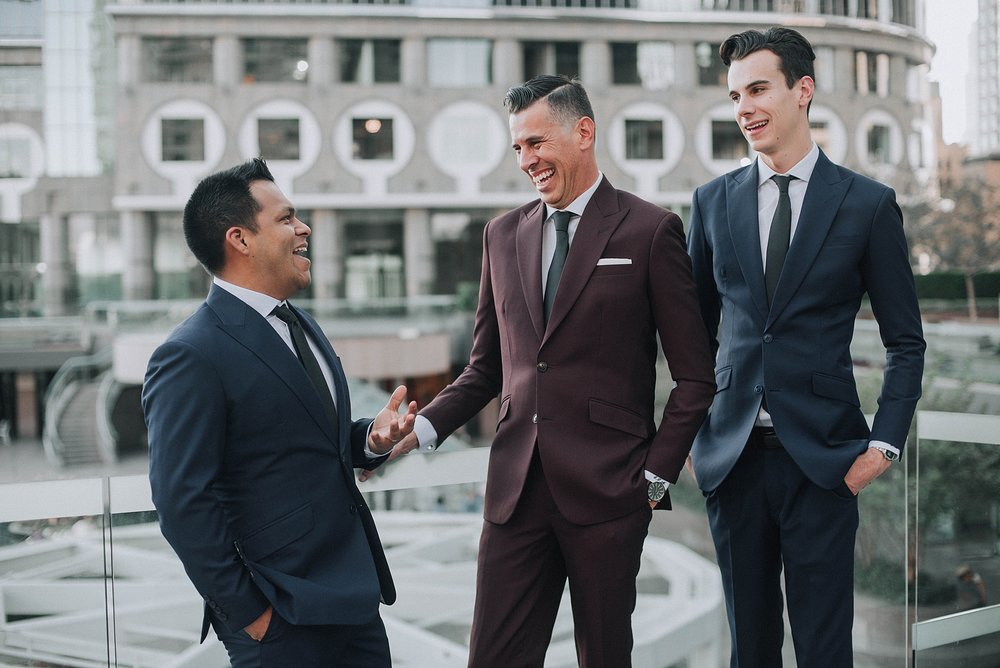 Groom and Groomsmen, Marriott Downton Los Angeles