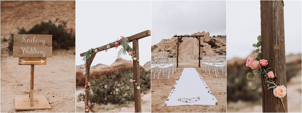 Vasquez Rocks Intimate Wedding & Elopement Photography - Ceremony Details