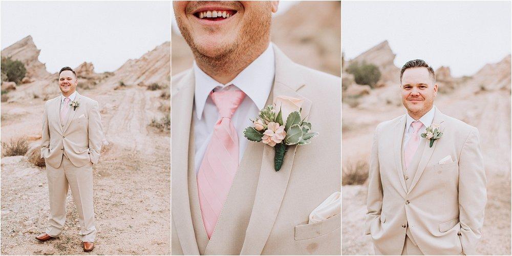 Vasquez Rocks Intimate Wedding & Elopement Photography - Groom's portraits