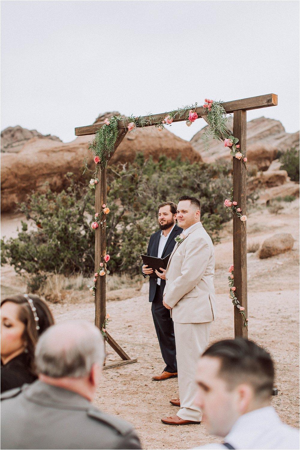 Vasquez Rocks Intimate Wedding & Elopement Photography - Ceremony Coverage