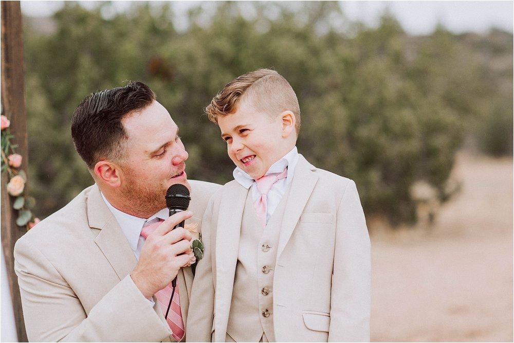 Vasquez Rocks Intimate Wedding & Elopement Photography - Vow exchange