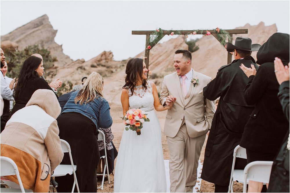 Vasquez Rocks Intimate Wedding & Elopement Photography - Recessional