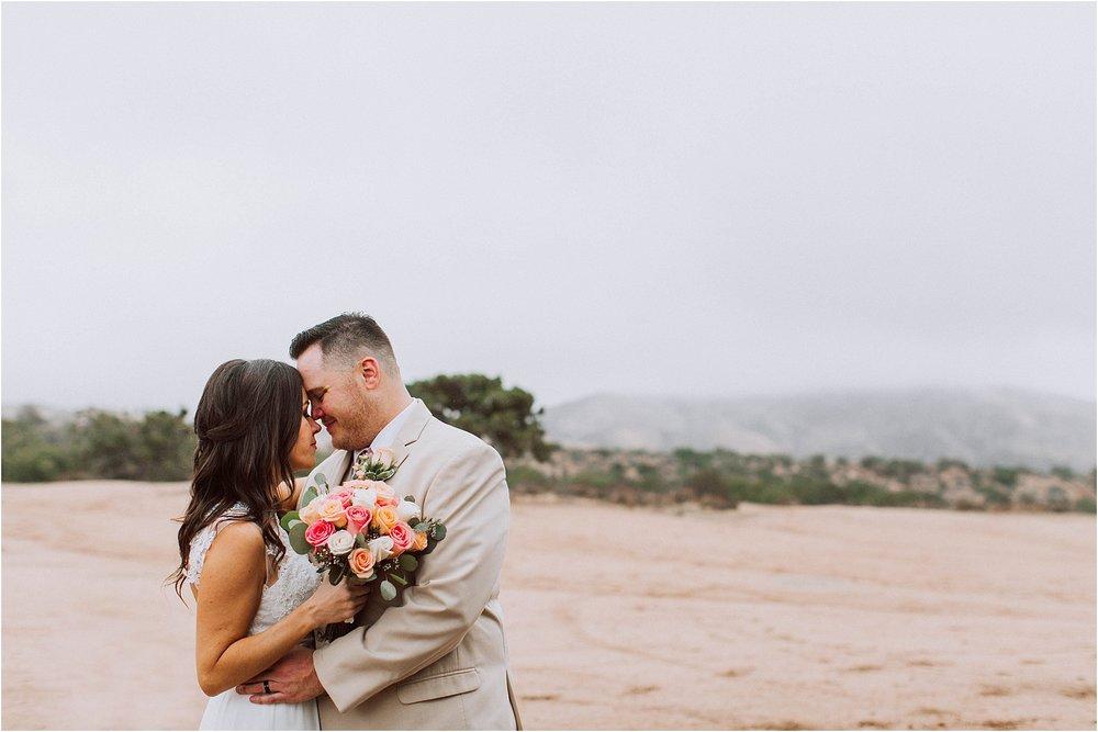 Vasquez Rocks Intimate Wedding & Elopement Photography - Bride & Groom Portraits