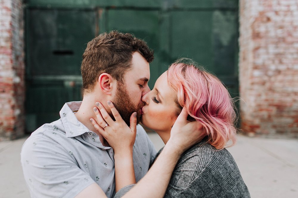 Downtown Los Angeles Engagement Photo Shoot