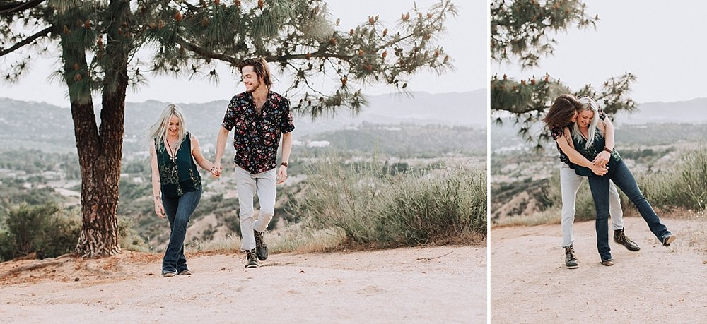 Engagement Photo Shoot Altadena Mountains