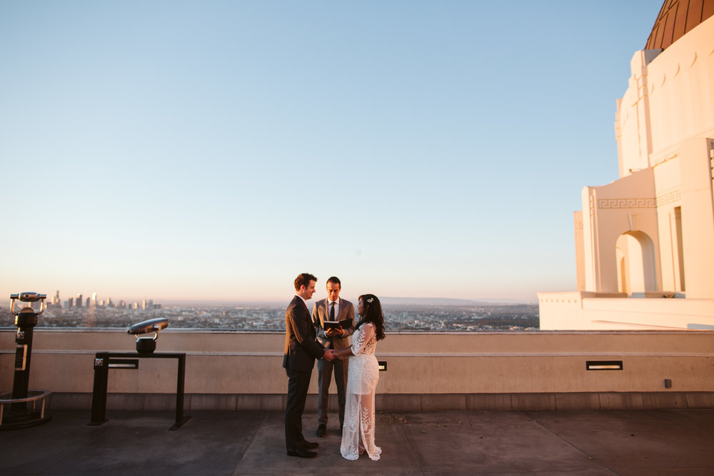 Sunrise Griffith Observatory Elopement Los Angeles Photographer