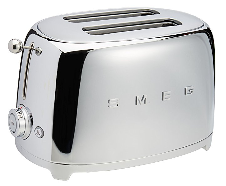 Smeg 2-Slice Toaster-Chrome -