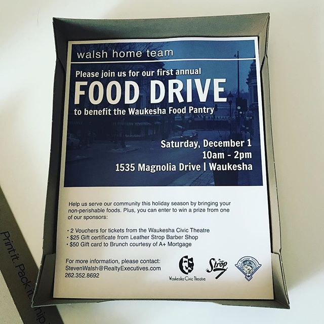 Coming soon, to a window near you!  So excited for our first WHT Food Drive to benefit the @waukeshafoodpantry. Start packing up those cans of food - Dec 1 is the day to give a helping hand this holiday season. When you donate, you can enter to win a great prize from one of our amazing sponsors!  #wemovewi #giveback #waukesha