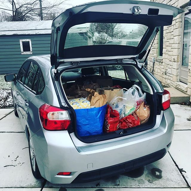 All the food has been loaded up and dropped off at @waukeshafoodpantry!  We collected over 255lbs of food this year for the Food Pantry - despite the rain and snow!  Thanks again to everyone who donated food and supported our mission. Next year will be even better! +Bonus Cat  #wemovewi #fooddrive