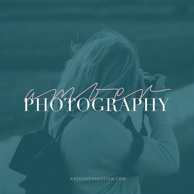 "Just finished this new logo! It's the subtle things about logos that I love. Like intertwining the cursive ""Amber"" with ""Photography"". It's a little thing, but it completes the logo. .  My goal when creating your logo and brand is to not only create something you love, but to create a brand you are proud to have represent you. .  #logodesigner #logodesigns #logodesigners #branddesigner #smallbusinessgraphicdesign #smallbusinessgraphicdesigner #smallbusinessdesign #smallbusinessdesigns #smallbusinessdesigner #photographybrand #photographylogodesigner #photographylogodesign #photographylogo #catholiccreatives #catholicsofinstagram #freelancedesigner #freelancebranddesigner #entrepreneurgraphicdesigner #entrepreneurdesigner"