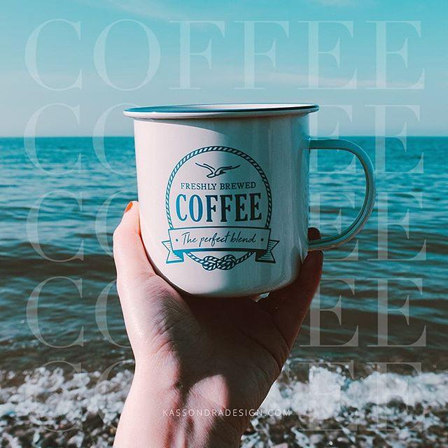 Drinking coffee and daydreaming about summer. .  #summerdays #beach #coffee #coffeegraphics #beachdays #daydreamingofsummer #graphicdesigner #freelancedesigner #freelancegraphicdesigner #entrepreneurgraphicdesigner #entrepreneurdesigns #entrepreneurdesigner #kassondradesign #coffeeandbeach #beachandcoffee #midwestgraphicdesigner