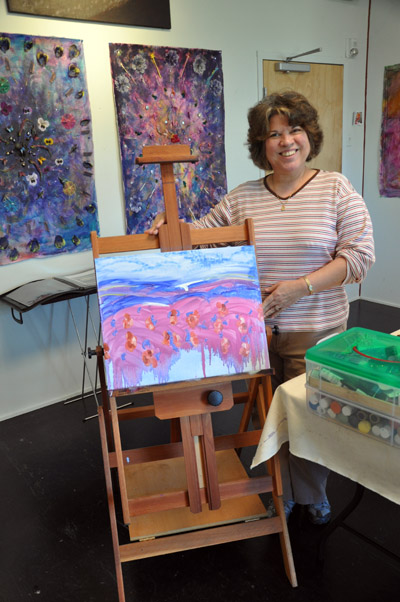 Arlene and her painting