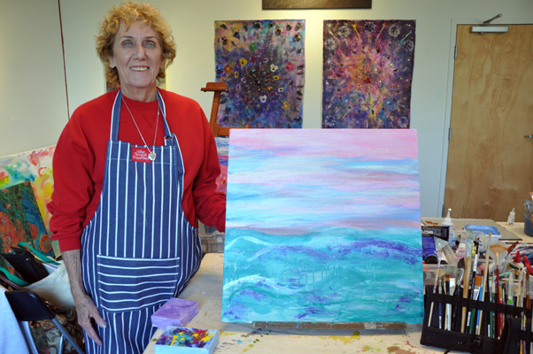 Barbara and her painting!
