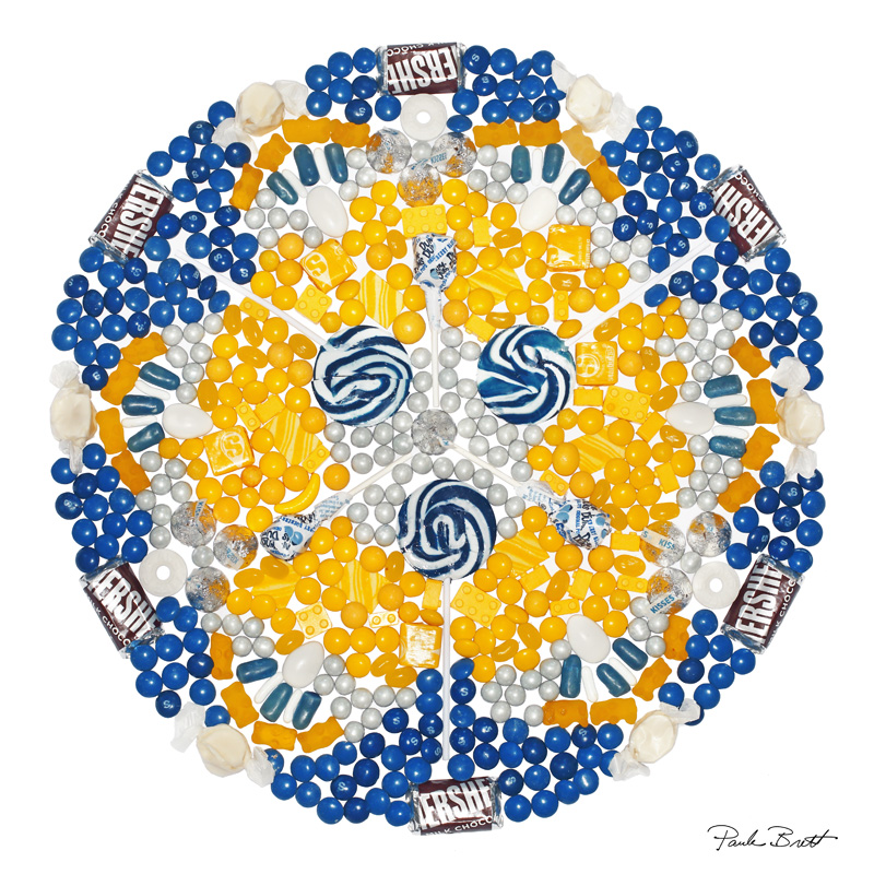 Blue + Gold Candy Mandala