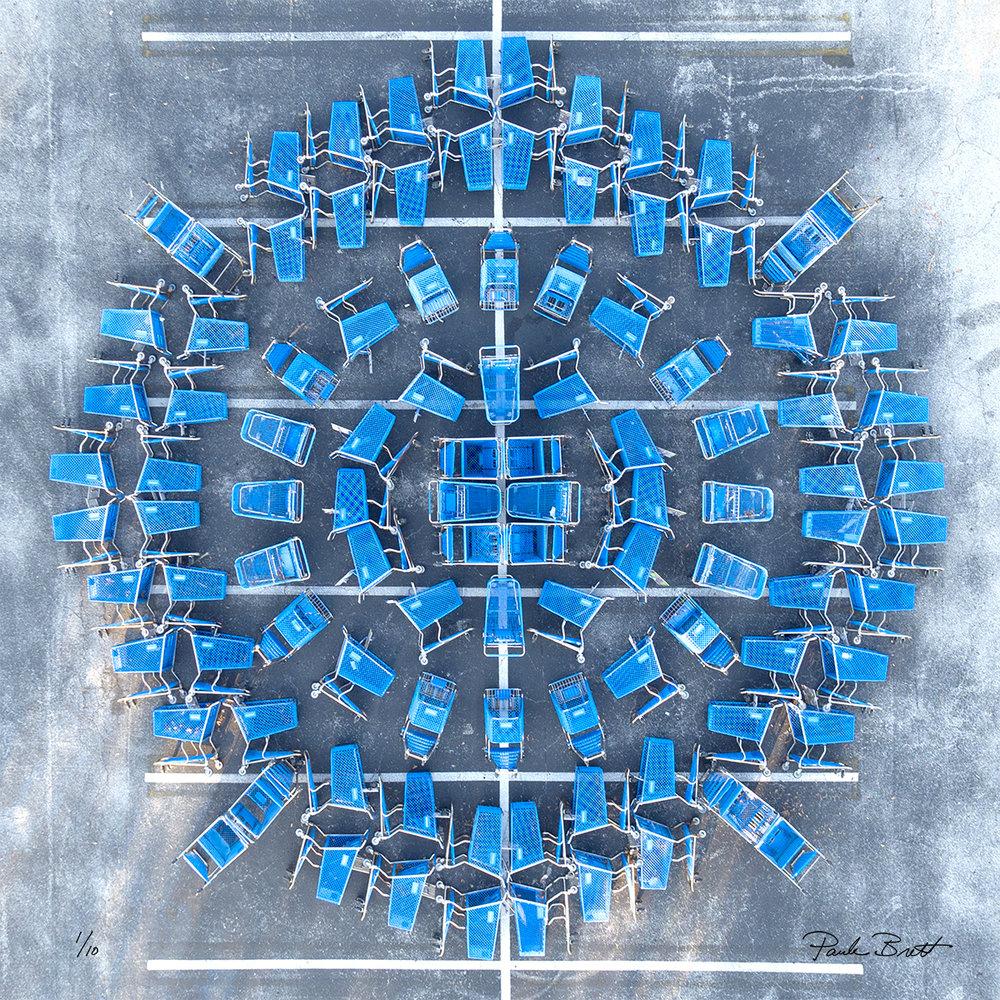 Blue Shopping Cart Mandala (Unnamed Store, 2016)