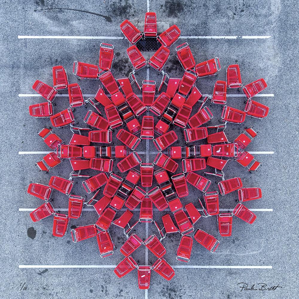 Red Shopping Cart Mandala (Target, 2016)